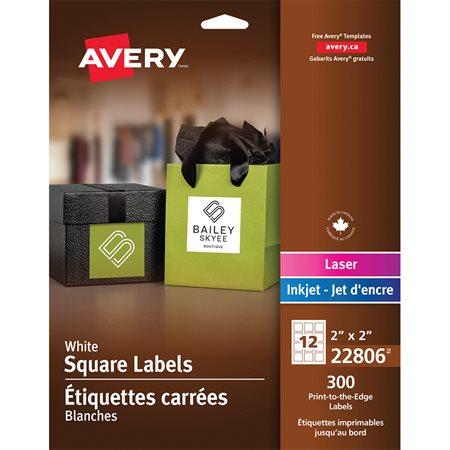 Étiquettes carrées imprimables