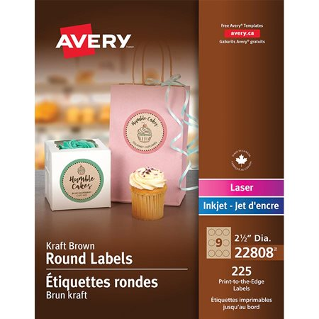 Étiquettes rondes imprimables