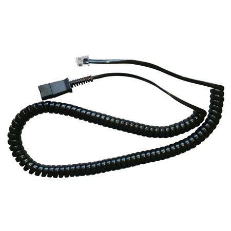 Coil cord to QD modular plug