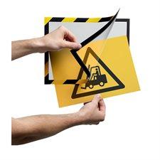 Système d'affichage magnétique autocollant de sécurité Duraframe®