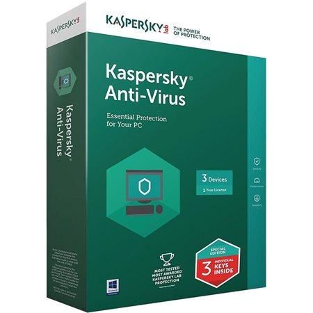 Logiciel antivirus Kaspersky 2018