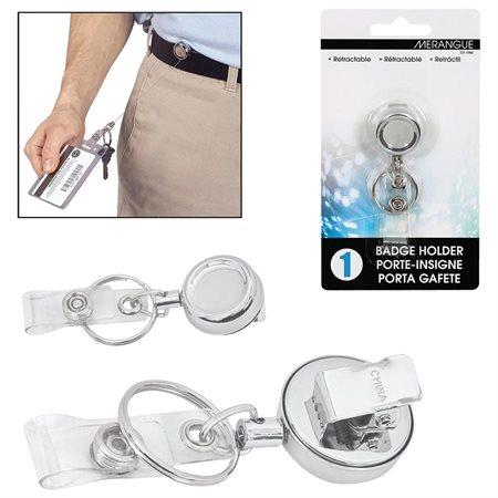 Porte-insigne rétractable