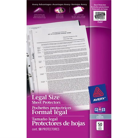 Heavy Duty Legal Size Sheet Protector