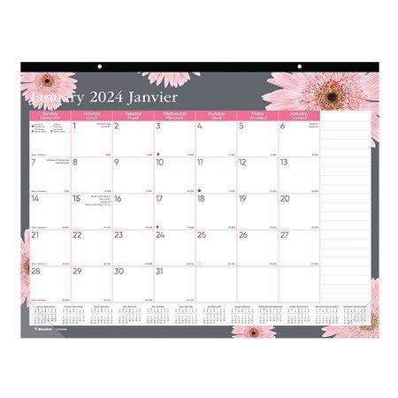 Calendrier sous-main mensuel Ruban rose (2019)