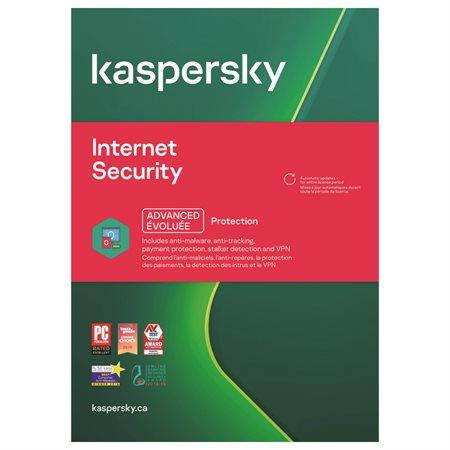 Sécurité Internet Kaspersky pour 3 usagers